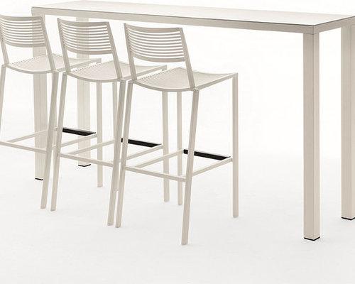 New Easy Barbord 110x140x70cm, Vit - Udendørs caféborde