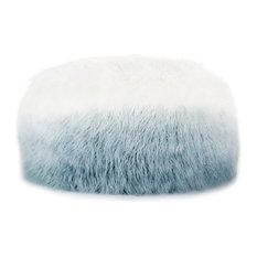 Nikki Chu by Jaipur Living Istria White/Blue Ombre Round Pouf
