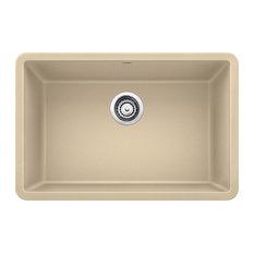 "BLANCO - Blanco Precis Silgranit 27"" Single Bowl Kitchen Sink, Biscotti - Kitchen Sinks"