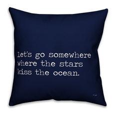 Jaxn Blvd Where the Stars Kiss the Ocean Spun Poly Pillow, 16x16
