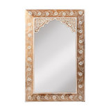 Mehindi Handpainted Arched Mirror