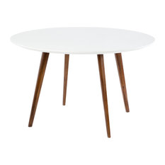 Dual Tone Round Dining Table