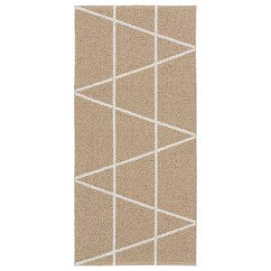 Viggen Woven Vinyl Floor Cloth, Beige, 150x150 cm
