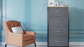 4 drawere fabric storage dresser