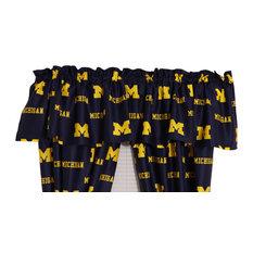 "Michigan Wolverines Printed Curtain Valance, 84""x15"""