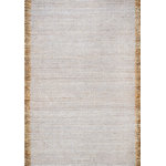 nuLOOM - Flatweave Casuals Solid Tassel Rug, Gray, 5'x8' - Made from the finest materials in the world and with the uttermost care, our rugs are a great addition to your home.
