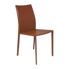 Orange Leather Dining Room Chairs Houzz