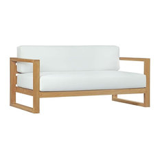Upland Outdoor Patio Teak Sofa