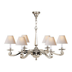 Polished nickel chandeliers houzz visual comfort alexa hampton myrna 6 light chandelier polished nickel polished nickel aloadofball Image collections
