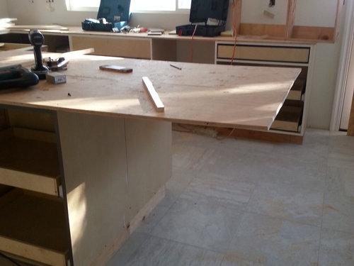 Kitchen Island Granite Overhang Support