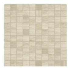 Timeless Travertino Porcelain Mosaic Tile, Matte 300x300, 1 Box
