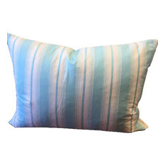 100% Down Pillow, Turquoise Stripe, Queen