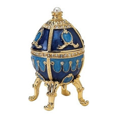 The Pushkin Collection Natalia Faberge Style Enameled Egg