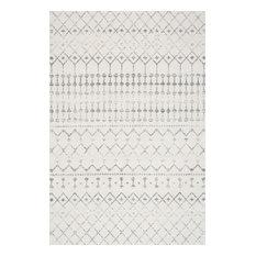 Moroccan Blythe Contemporary Area Rug, Gray, 2'x3'