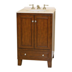 B&I Direct Imports Mickey Single Sink Transitional Vanity, 24""