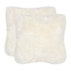 "Safavieh Arctic Sheepskin Pillow, Set of 2, 20""x20"""