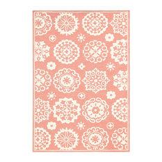 Vail Indoor/Outdoor Pink Rug 4'x6'