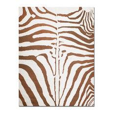 "5'11""x8'10"" Hand Knotted Tibetan Oriental Rug Zebra Design"