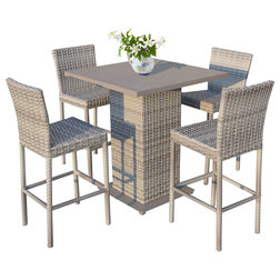 Tropical Outdoor Pub And Bistro Sets by Design Furnishings