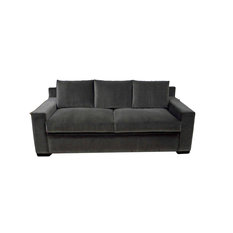 Modern Styled Sofa Saddel Walnut Leg Finish