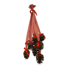 ARTESANIA SAN JOSE, S.A.U. - Pinecone Christmas Decoration, Red - Christmas Ornaments