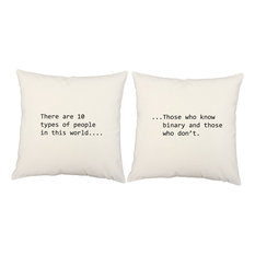 Binary Quote Throw Pillow Covers-Cushions