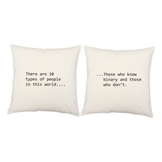 RoomCraft   Binary Quote Throw Pillow Covers Cushions   Decorative Pillows