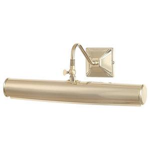 Large 2-Light Bar Picture Light, Polished Brass