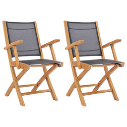 Rustic Outdoor Folding Chairs by Chic Teak