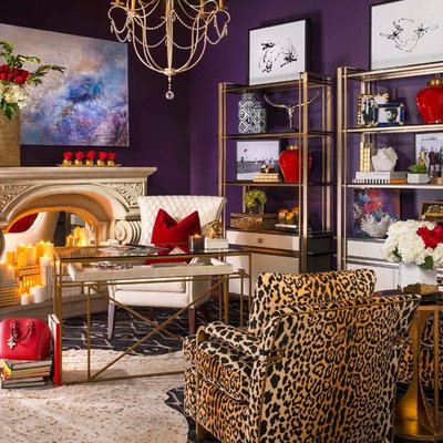 Example of an eclectic home design design in Dallas