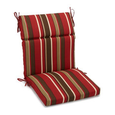 "20""x42"" Spun Polyester Outdoor Squared Seat/Back Chair Cushion, Montserrat Sangr"