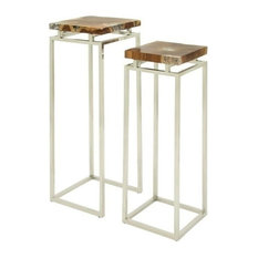 Yosemite Pedestal Tables, Set of 2