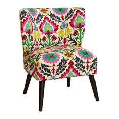 Mason Curved Armless Chair In Santa Maria Desert Flower