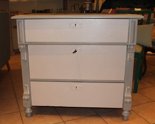 Kommode weiß-grau - Accent Chests And Cabinets