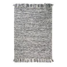 Retreat Maya Charcoal Rectangle Plain Rug, 80x150 cm
