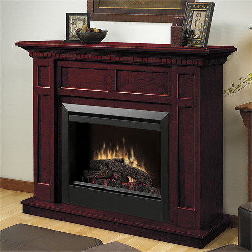 Dimplex - Caprice Cherry Electric Fireplace Mantel Package - DFP4743C -  Indoor Fireplaces - Electric Fireplace Mantel Packages