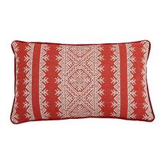 Savanna Stripe Coral Lumbar Pillow Lacefield