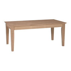 International Concepts   Unfinished Tall Shaker Coffee Table   Coffee Tables