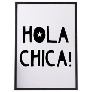 """""""Hola Chica!"""" Paper Print, A4"""