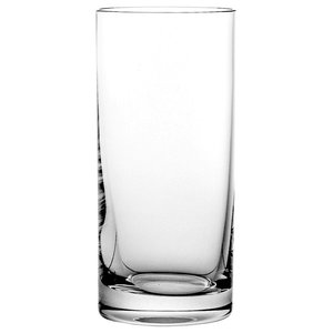 Clear Lead Crystal Highball Glasses, Large, Set of 6