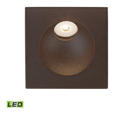 Zone 1 Light Steplight in Matte Brown with Opal White Glass Diffuser