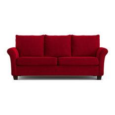 Randy Sofast Sofa, Red Velvet