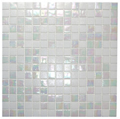mixed white cloud glimmer glass tile more info