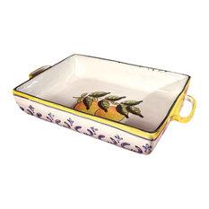 Feba Italia - Lemon Large Rectangular Ceramic Baking Dish - Baking Dishes