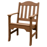 Outdoor Poly Lumber Avonlea Garden Chair With Arms, Sequoia
