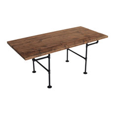 american iron pipe dining table dark brown dining tables