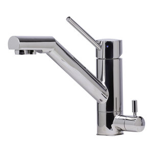 Polished Stainless Steel Alfi Trade Inc. ALFI brand AB2203-PSS Kitchen Faucet with Pull-Out Spray