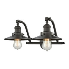 Railroad 2-Light Bath Fixture, Oil Rubbed Bronze, LED