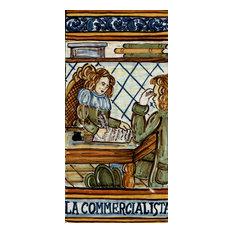 Italian Ceramic Tile, Business Woman, La Commercialista