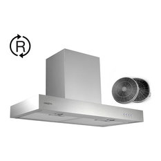 30 in. Forza Ductless Range Hood, LED and Carbon Filters for Recirculation